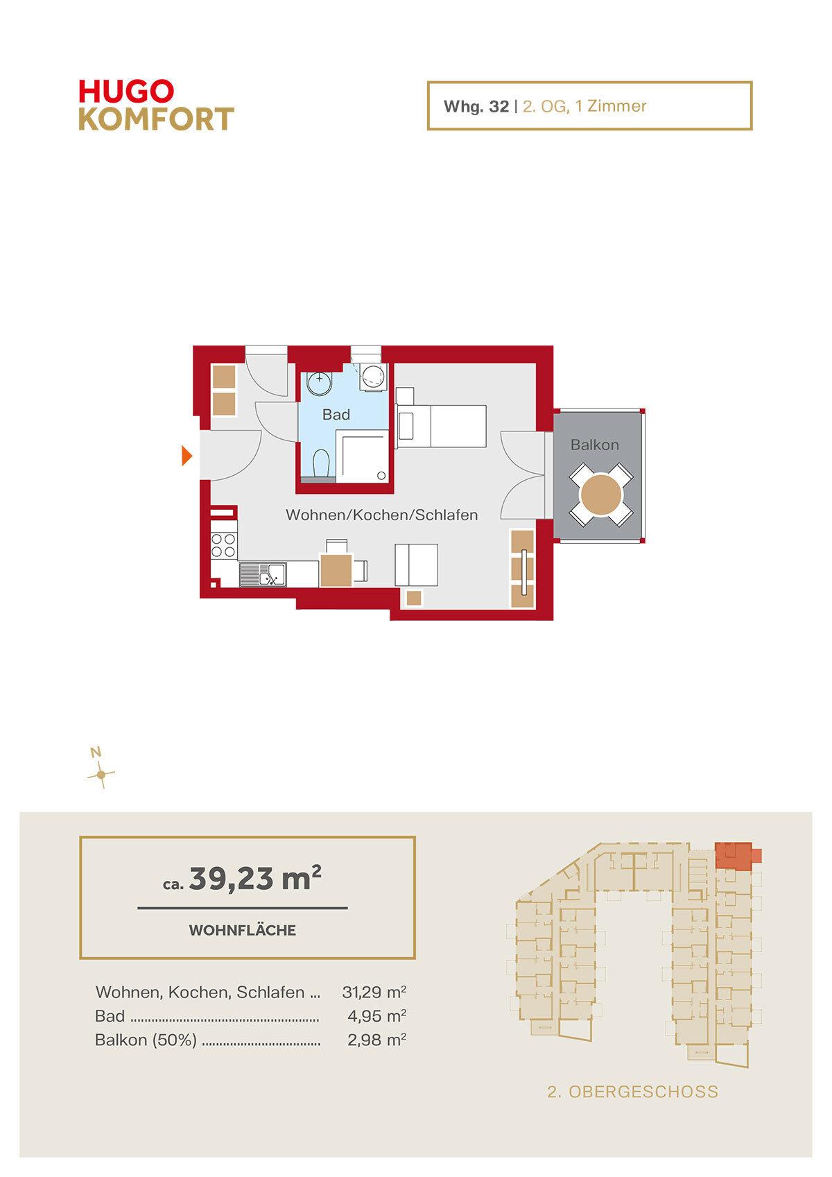 HUGO KOMFORT – Grundriss | Winkler & Brendel Immobilien